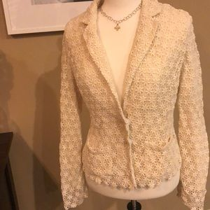 Lace blazer by Hinge